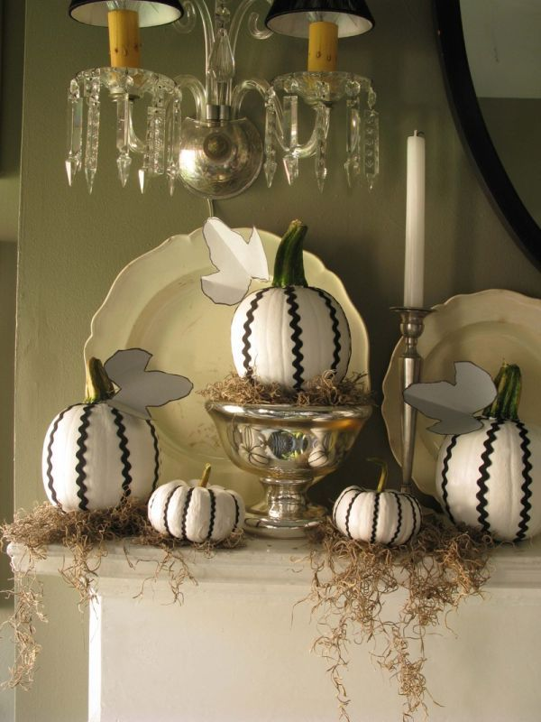 Ric Rac Pumpkins from Eddie Ross - A Halloween craft that\u0027s so - luxury halloween decorations