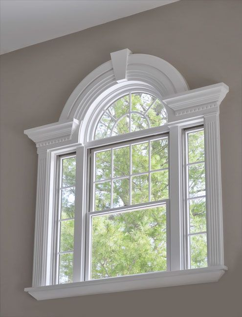 Love The Molding They Put On Top Of Sunburst Window