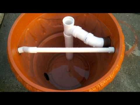 Homemade koi pond filter that actually looks good for Yard pond filters