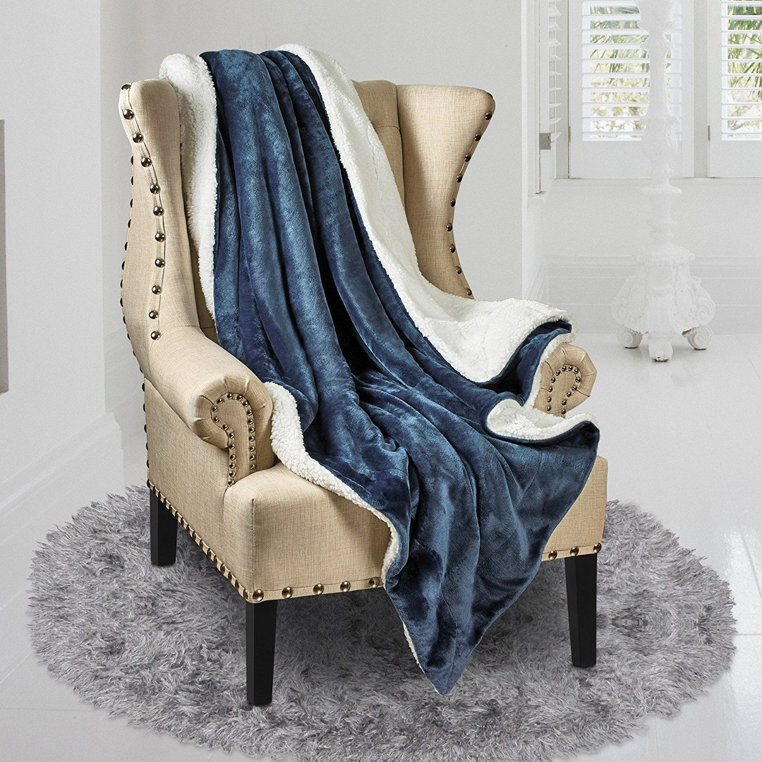 Sherpa Throw Blanket Ultra Soft Super Luxurious Warm