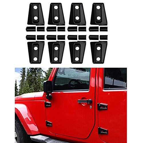 Side Door Hood Hinge Trim Cover Kit Abs One Set Of 8pcs For 2007 2016 Jeep Wrangler 4 Door Jeep Wrangler Jeep Doors Jeep Wrangler Jk