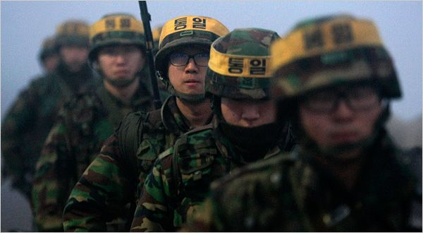 South Korean marines on patrol as tensions rise over North Korea 12.19.2010