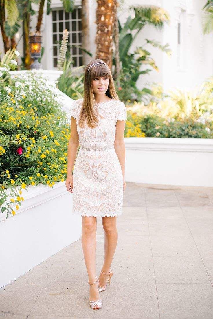 Loveliest Lace Bridesmaid Dresses Your Best Girls Will Love Modwedding City Hall Wedding Dress Civil Wedding Dresses Bhldn Wedding Dress [ 1102 x 736 Pixel ]