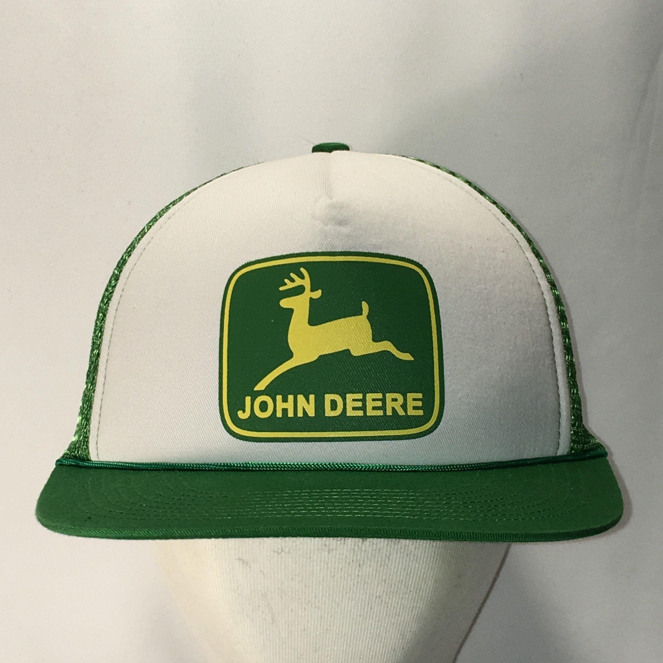 Black John Deere Foam Front Trucker Cap