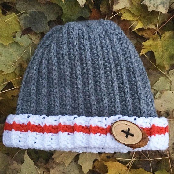 Messy bun hat, work sock pattern, lumber jack hat, red white and grey stripe hat, womens messy bun hat, kids messy bun hat, loggers hat , g #kidsmessyhats messy bun hat, work sock pattern, sock hat, red white and grey stripe hat, womens messy bun hat, kids messy bun hat, work sock hat, grey #kidsmessyhats