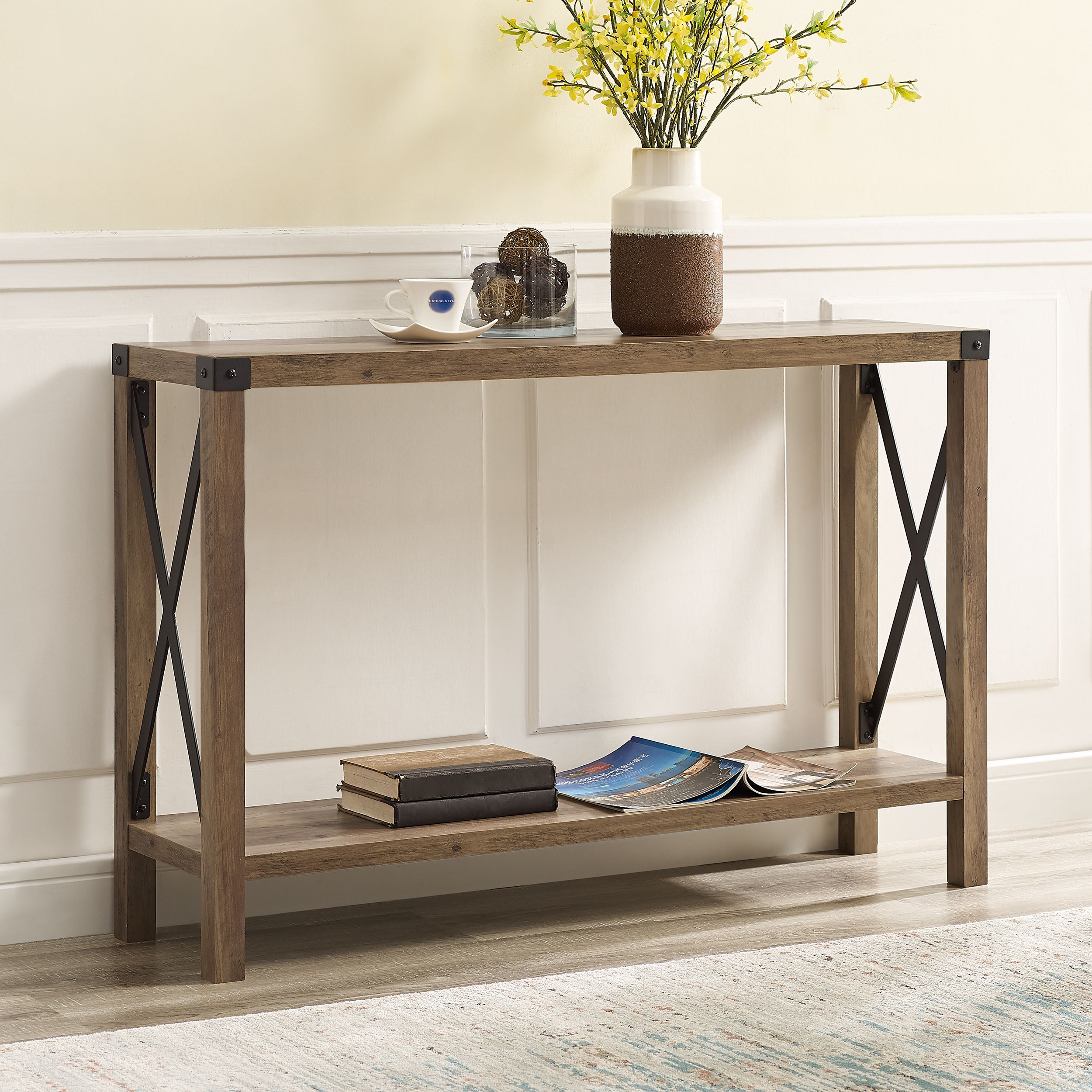 Home In 2020 Entry Table Farmhouse Entry Table Reclaimed Barn Wood