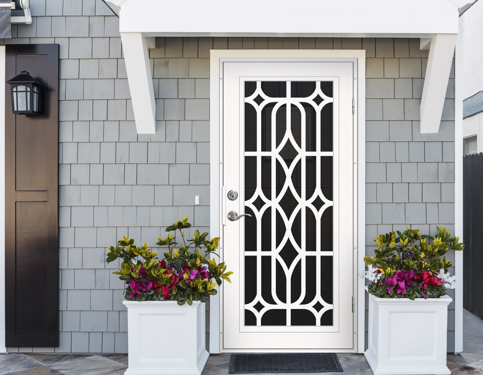 Pin By Screenmobile Of Palm Desert On Titan Security Doors Security Door Design Security Door Iron Security Doors