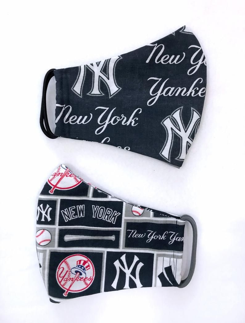 Face Mask In New York Yankees Cotton W Filter Pocket Nose Etsy In 2020 New York Yankees Face Mask Yankees