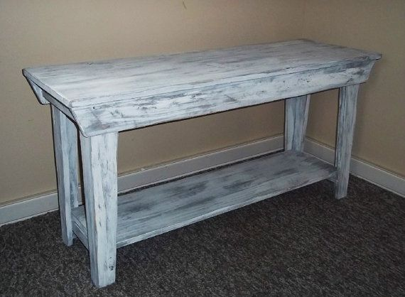 Foyer Table Distressed : Table shabby rustic chic furniture t v stand foyer
