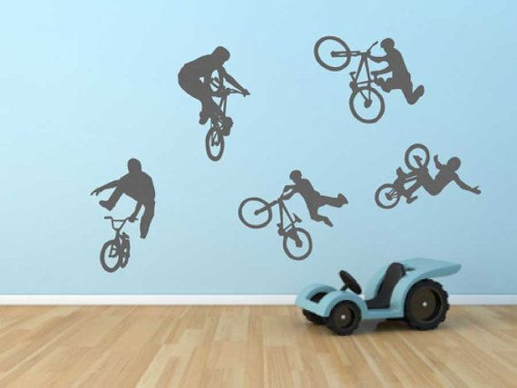 BMX Bikes Wall Sticker Available In 2 Sizes: Regular