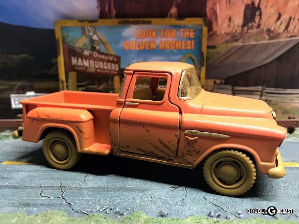 Kinsmart 1//32 1955 Chevy Step side Pick-Up Die Cast Collectible Toy Truck RED