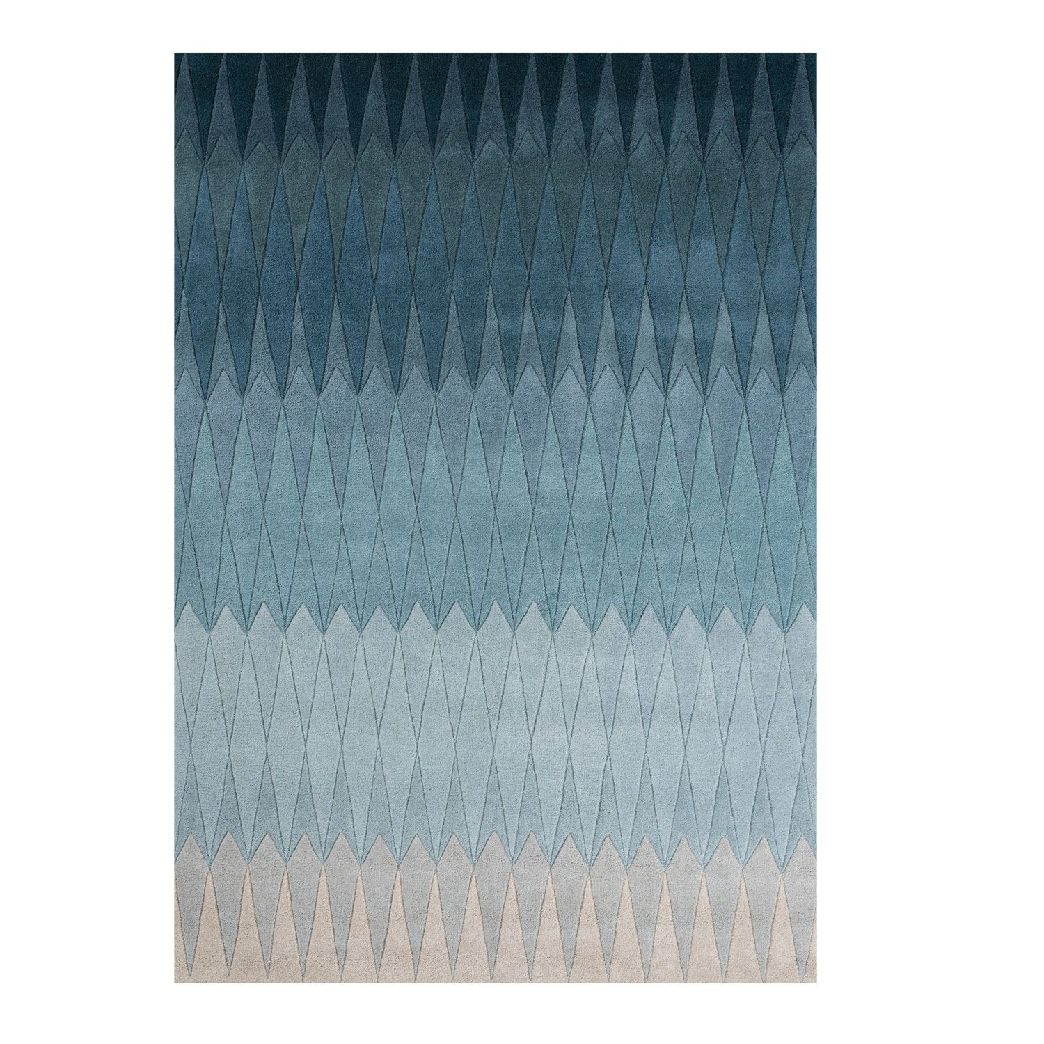 Linie Design Acacia Blue Rug Patterned Rugs