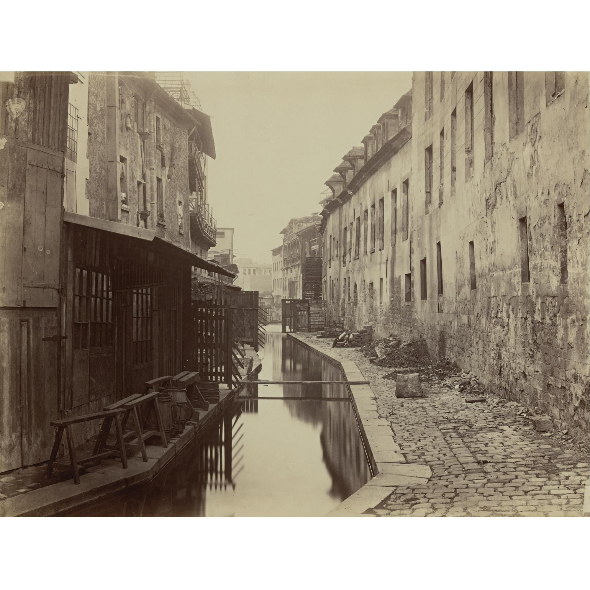 Charles Marville - Paris, la Bievre between Pascal and Cochin streets