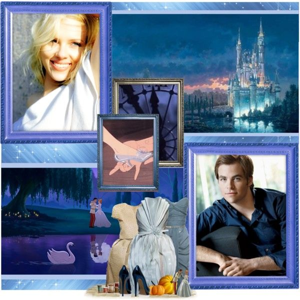 """Scarlett Johanson as Cinderella and Chris Pine as Prince Charming."" by justadreamer on Polyvore"