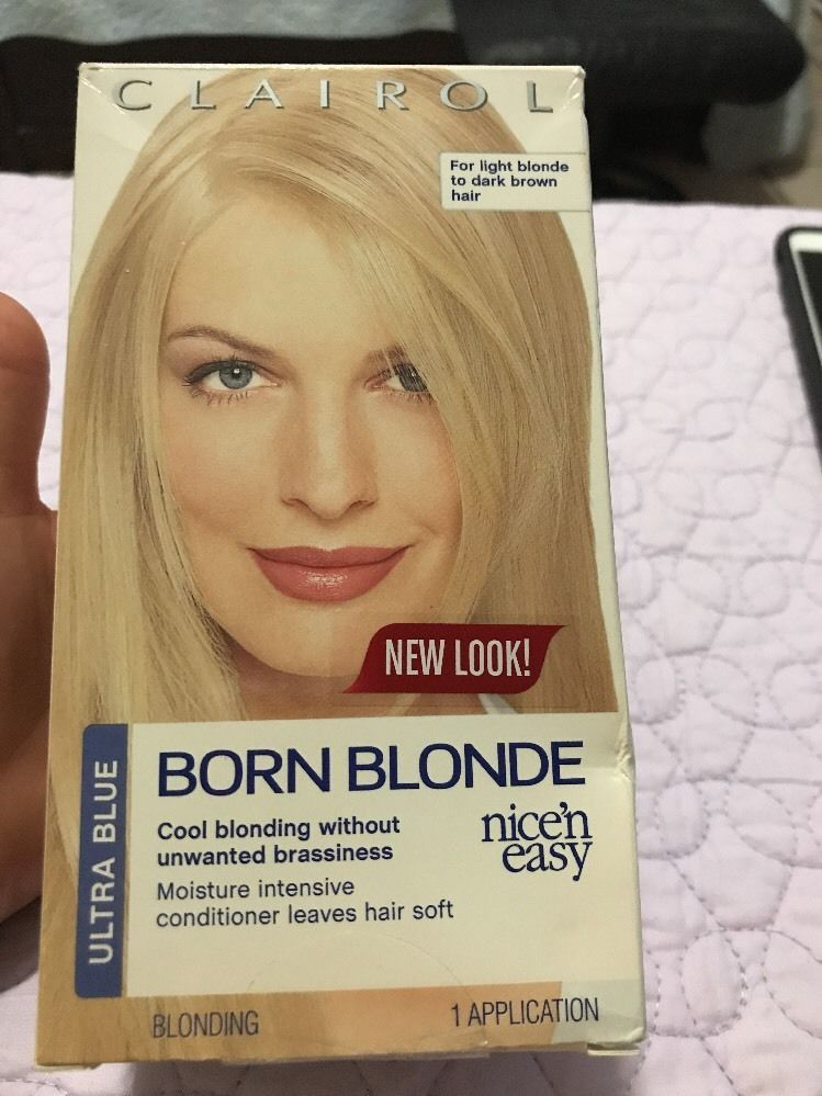 Clairol Born Blonde Ultra Blue Hair Color Born Blonde Nice N Easy