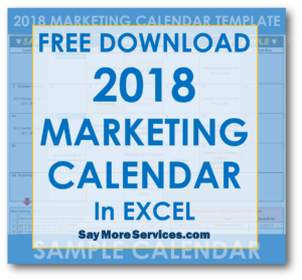 2018 marketing calendar template in excel free download say more