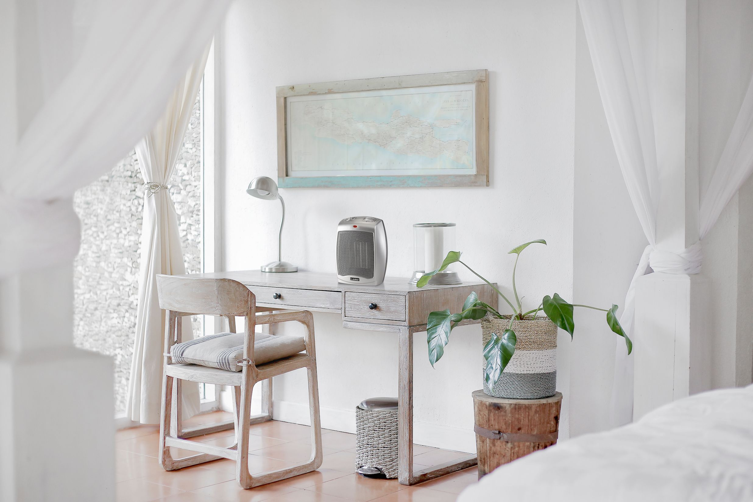 Ceramic Space Heater With Adjustable Thermostat Lasko White Bedroom Furniture Furniture Home