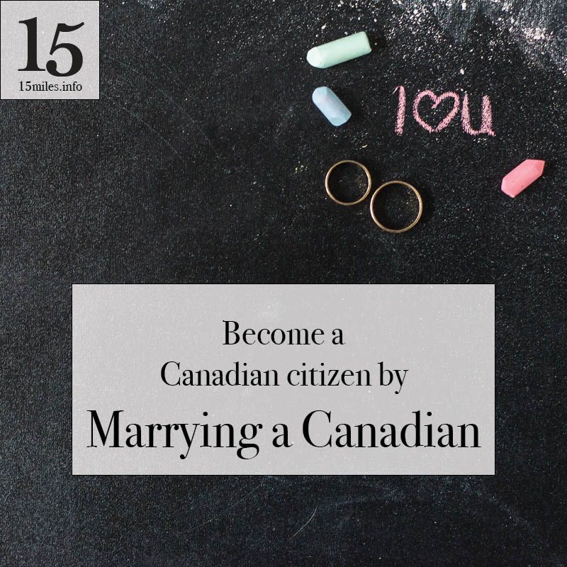 a canadian citizen by marrying a canadian Moving