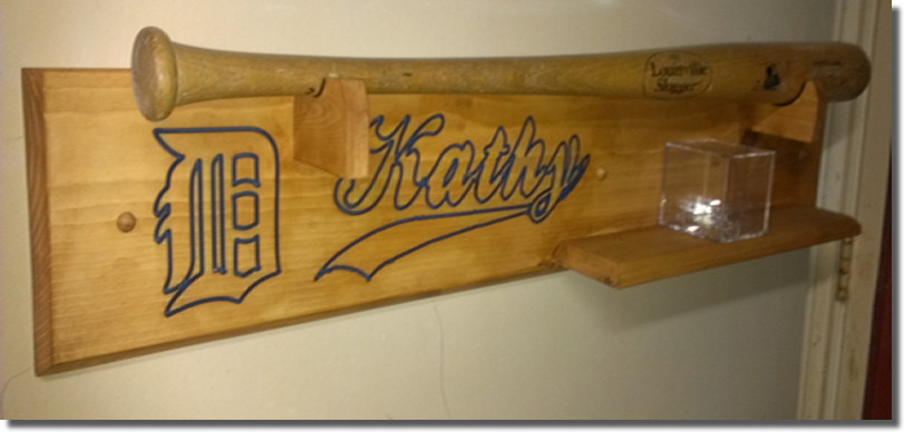 Custom Baseball Softball Bat Rack With Shelf Ships Unfinished Or Your Choice Of Finish Any Logo Name Customized To Needs 99 Shipping