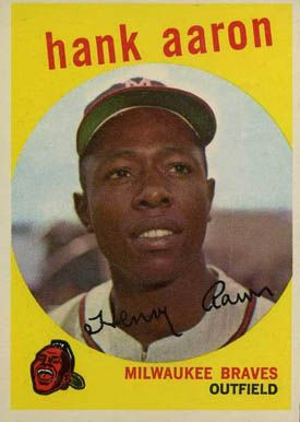 1959 Topps Hank Aaron 380 Baseball Card Value Price Guide