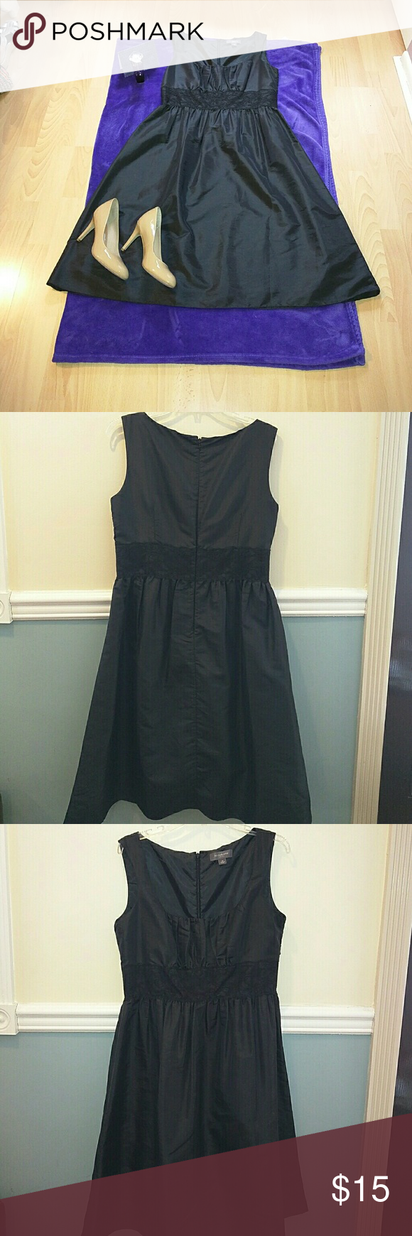 Liz Claiborne elegant black dress Black sleeveless Liz Claiborne dress. In good condition. Cute lacing . Liz Claiborne Dresses