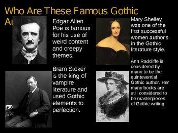 The Gothic Novel Powerpoint Presentation Gothic Novel Literature Lessons Frankenstein Book