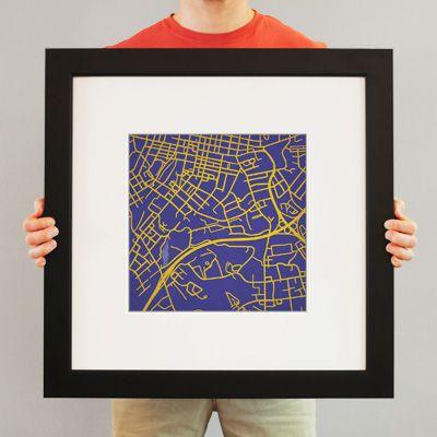 James Madison Campus Map.James Madison University Campus Print I Bleed Purple East