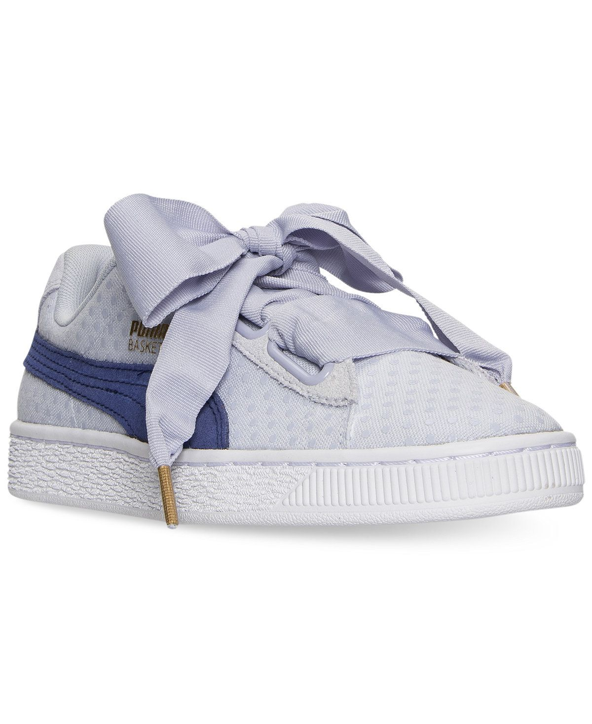 a5382e6ececd6 Puma Women s Basket Heart Denim Casual Sneakers from Finish Line - Finish  Line Athletic Sneakers - Shoes - Macy s