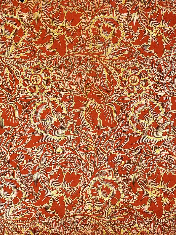 This art nouveau wallpaper is so beautiful and it would ...