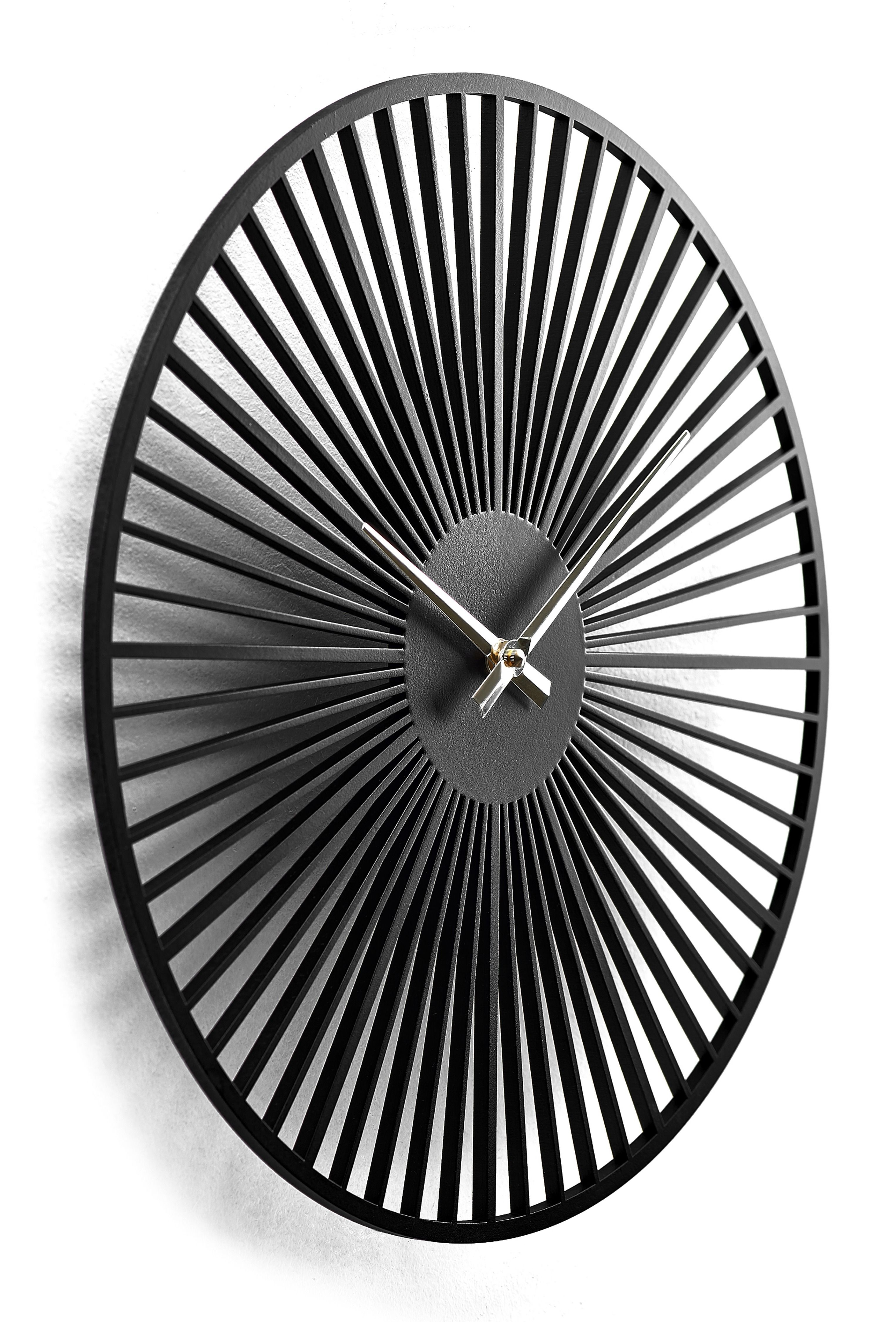Wooden Wall Clock Moku Circum Wall Clock Design Black Wall Clock Wall Clock Modern