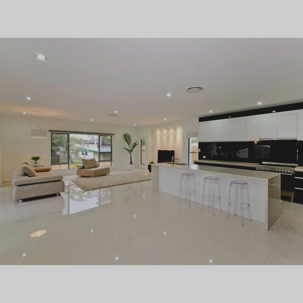 Polished white floor tile 2492 m Crazy or good idea Kitchen. White porcelain floor tile