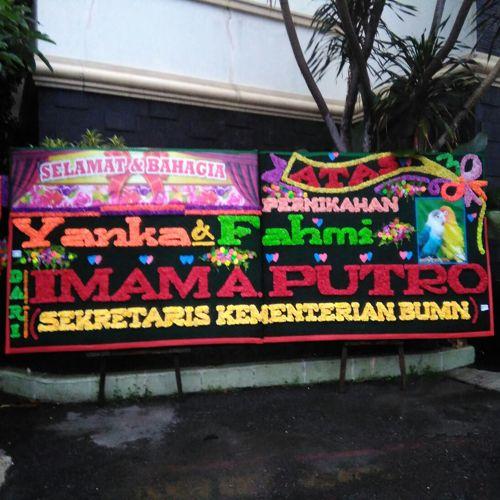Bunga Papan Pernikahan Di Gedung Imcc Jl Gagak Hitam Medan Karangan Bunga Papan