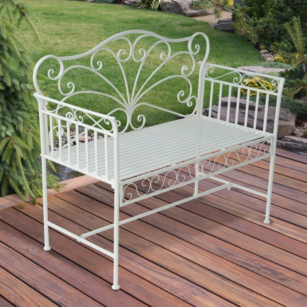 park garden bench white metal frame backrest outdoor patio balcony furniture white iron outdoor furniture34 outdoor