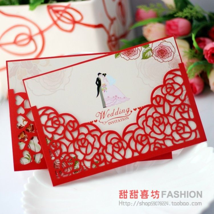 Fashion personalized invitation card wedding supplies wedding ...