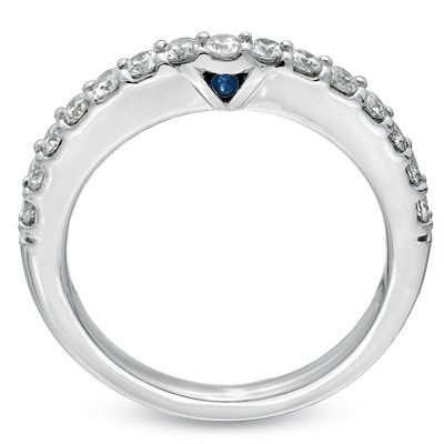 Love This Vera Wang Wedding Band With The Hidden Sapphire