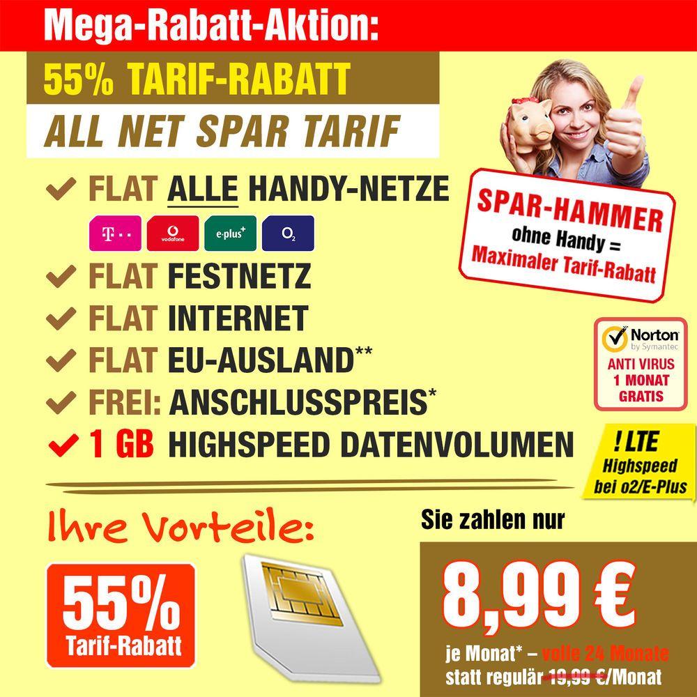 Allnet Flat 1gb Lte Sim Only Vertrag Handyvertrag Vertrag Handyvertrag Mobilfunk Handy