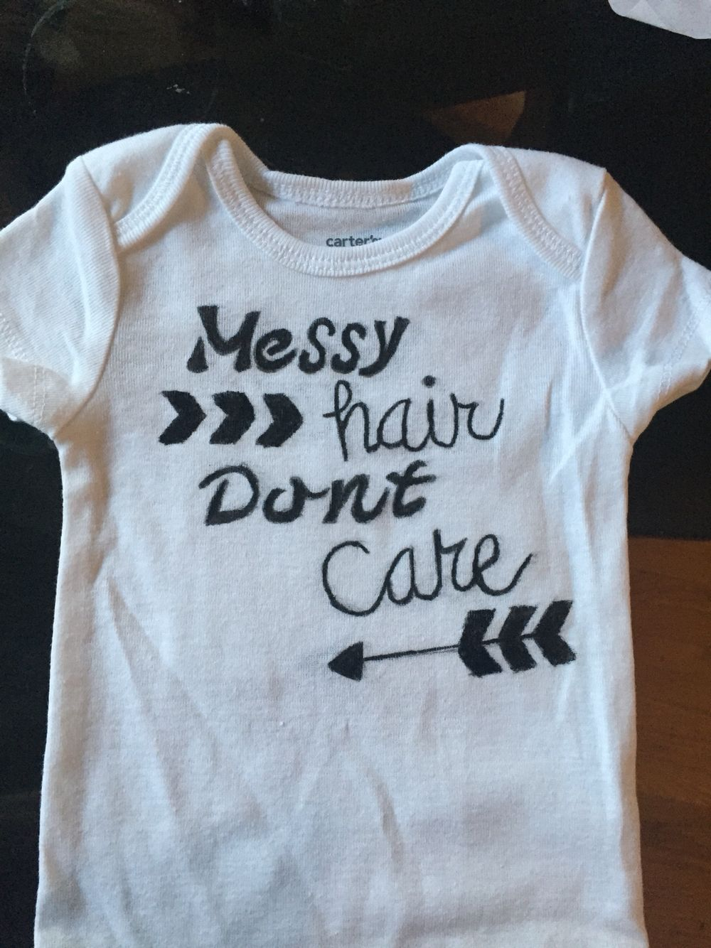 2c0fee5575daf1 Just another onesie I made using fabric markers …