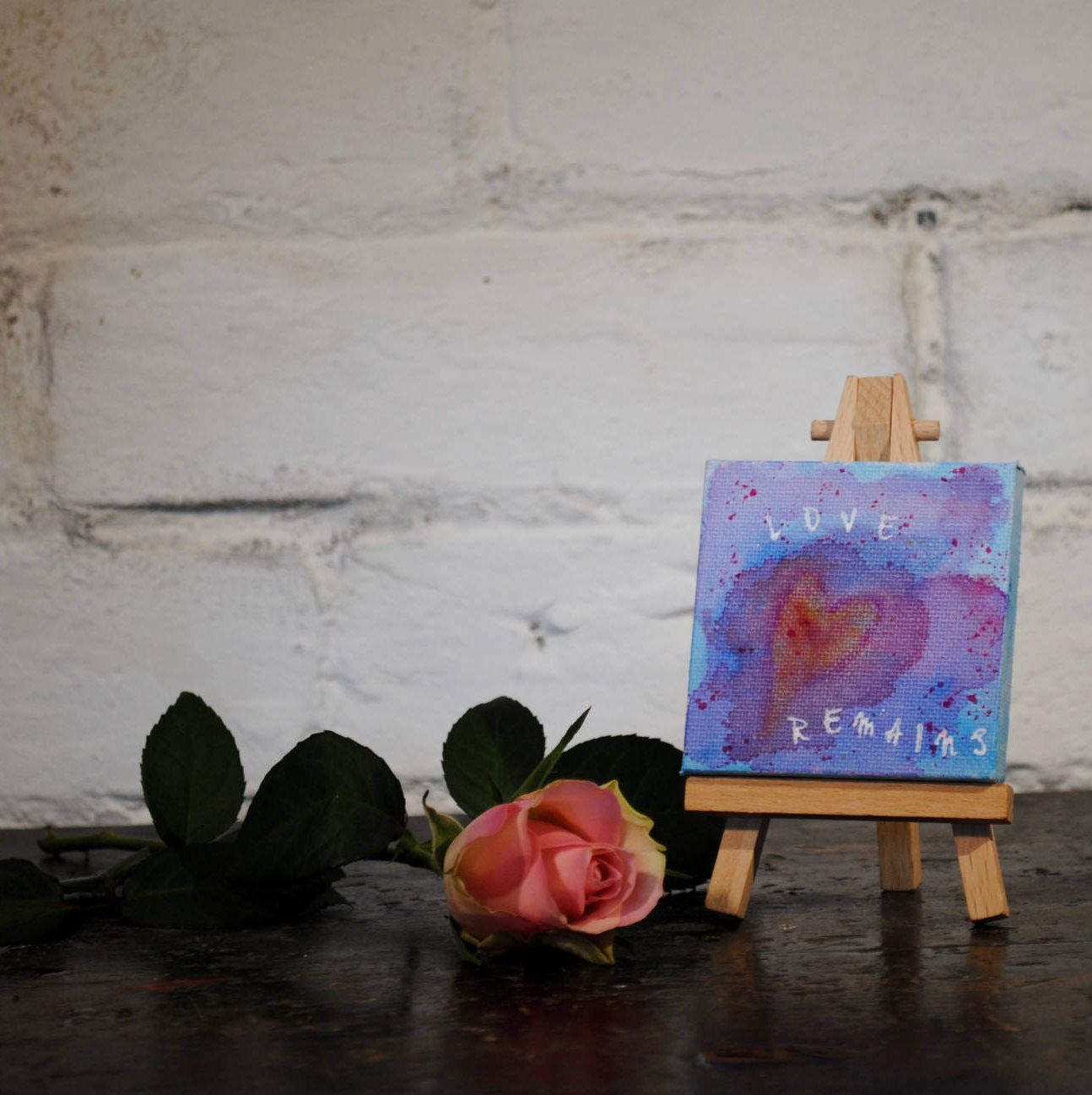 Spiritual art mixed media heart painting home decor religious spiritual art mixed media heart painting home decor religious mini desk art christian confirmation gift love gift bible quotes negle Choice Image