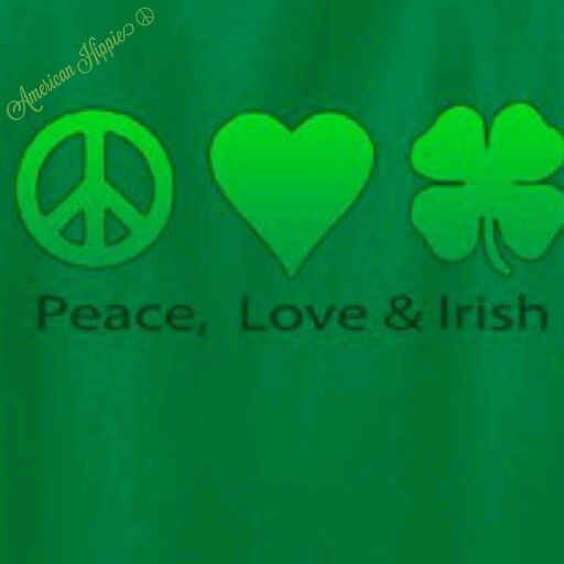 Image result for shamrock peace sign images