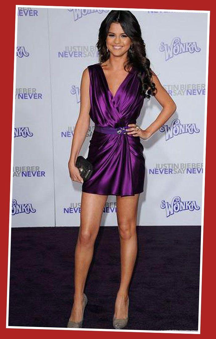 Purple Cocktail Dress Celebrity