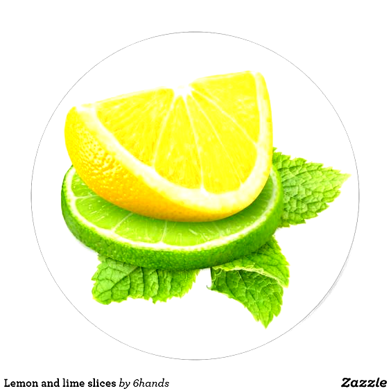 Lemon And Lime Slices Classic Round Sticker Custom Stickers With Beautiful Fruits And Vegetables For Scrapbooking Kids Activiti In 2020 Lime Beautiful Fruits Fruit