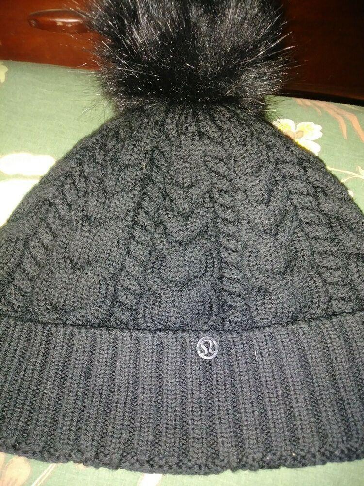 98d588e71d6 Lululemon Woman Winter Beanie hat   black  fashion  clothing  shoes   accessories  womensaccessories  hats (ebay link)