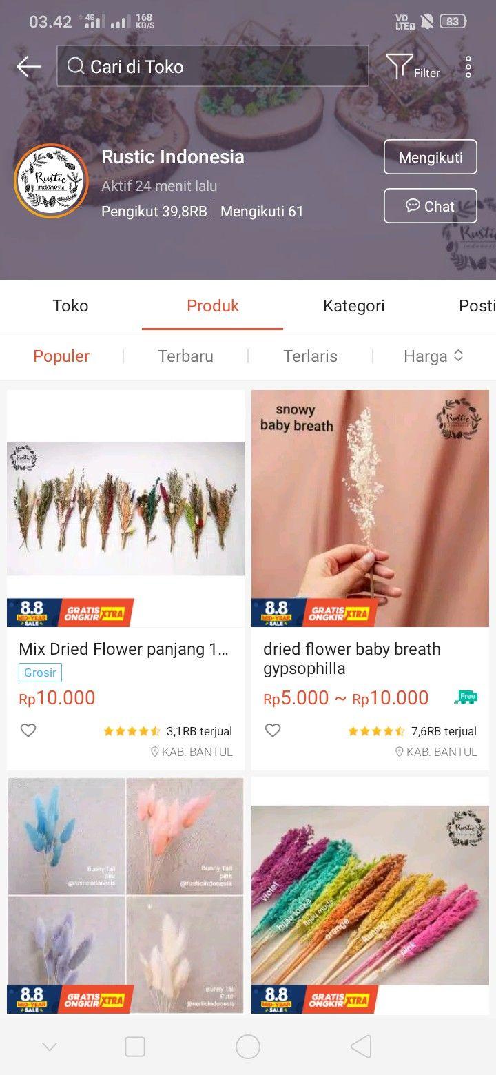 Pin Oleh Dian Aji Di Shopee Di 2020 Ide Dekorasi Ide Hadiah Bunga Kering
