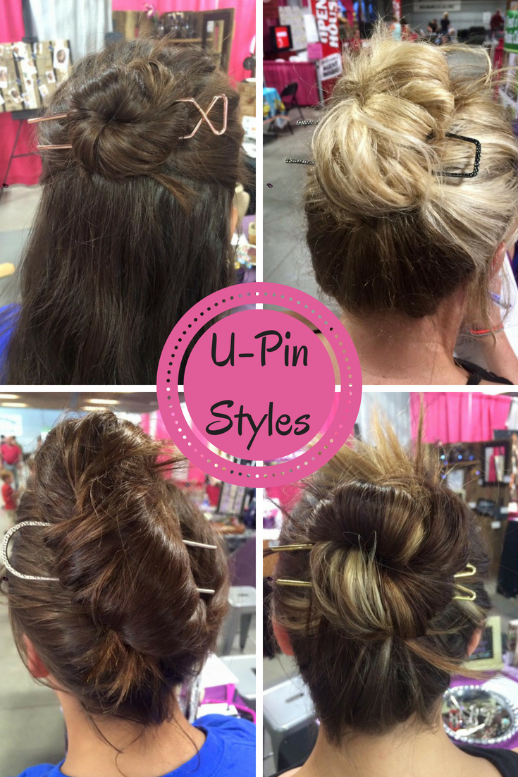 Upins from lilla rose are another easy quick way to style your hair