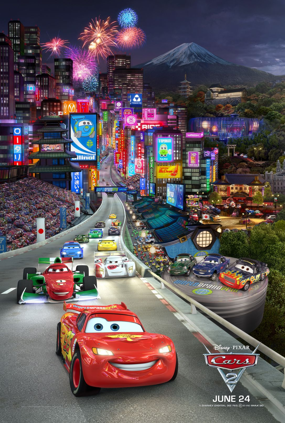 Cars 2 Triptych 1 Prints Allposters Com Cars 2 Movie