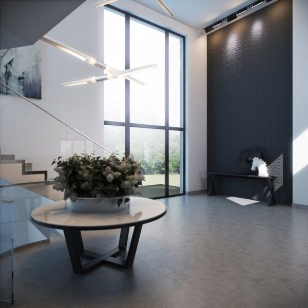 Calming modern interiors