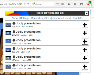 Video downloader firefox addon.