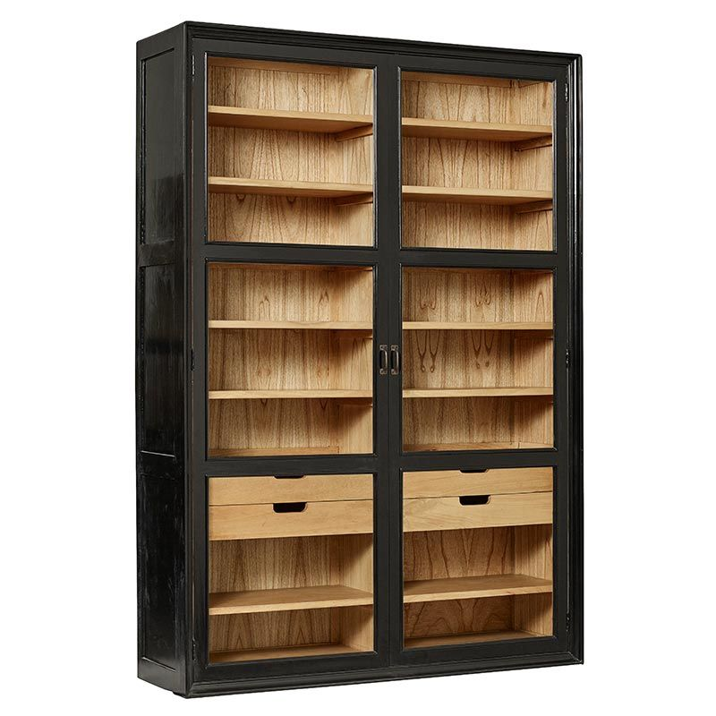 wandregal vitrine viva holz und glas von nordal m bel. Black Bedroom Furniture Sets. Home Design Ideas