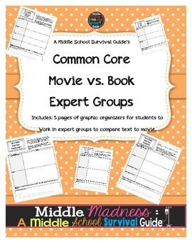 common core book vs movie comparison guide expert groups