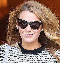 Blake Lively | Square sunglasses women, Sunglasses women ...